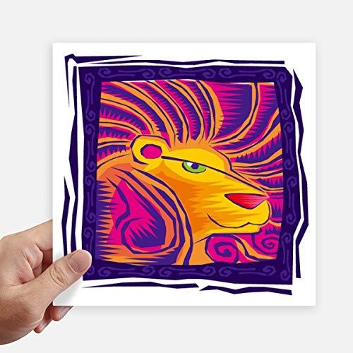 DIYthinker Constellation Leo Mexicon Gravure Autocollant carré de 20 cm Mur Valise pour Ordinateur Portable Motobike Decal 4Pcs 20Cm X 20Cm Multicolor