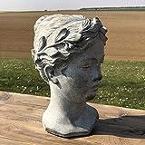 L'ORIGINALE DECO Grand Buste Tête de Femme Statue Femme Ciment Style...