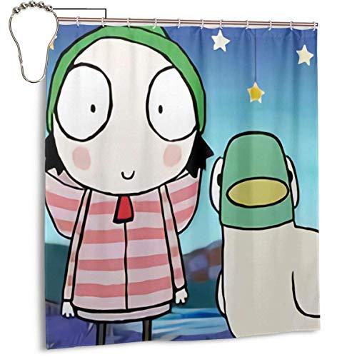 Yuanmeiju Cortina de Ducha Impermeable de Moda Sarah & Duck Shower Curtains...