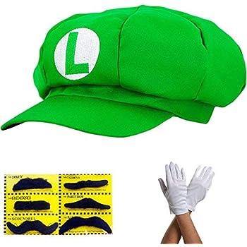 Super Mario Gorra Luigi - Disfraz para Adultos y niños en 4 ...