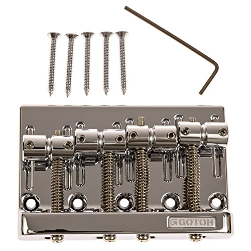Fender Bass Bridge by Gotoh (201B-4), Chrome