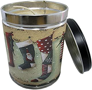 Our Own Candle Company Homemade Sugar Cookie Scented Candle in 13 Ounce Tin with a Christmas Stocking Label