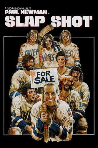 Paul Newman in Slap Shot Ice Hockey Classic movie art 24x36 Poster