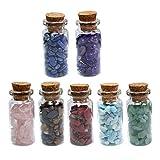 GARNECK 7 Bottiglie Pietre di Quarzo Cadute Patatine Pietra Cristallo Schiacciato Rocce Naturali Pietre Curative per Progetti di Artigianato Vaso di Fiori Decorazione Acquario