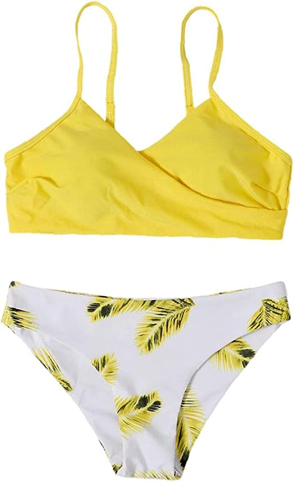 Bikini Set Women Floral Random Print Push-Up Swimsuit Beachwear Padded Swimwear Separate Two Piece Brazilian Bathing Suit