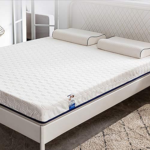 letaowl Materasso,Lattice Memory Foam Materasso Impresa Media Supporto Materasso Sollievo della Pressione per Dormire più Fresco-Bianco. 135x190cm(53x75inch)