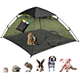 OUTING MAN Cat Tent Outdoor Playpen Pop Up Pet Cat Enclosures Portable Sunshade and Anti-UV Cat Playhouse (Play Tents for Cats and Small Animals) - Outside Habitat