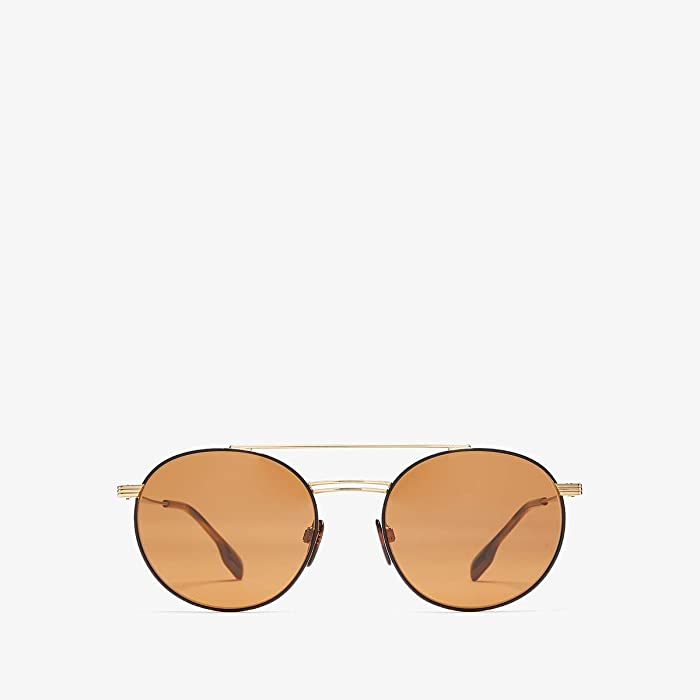 Burberry  0BE3109 (Gold/Matte Black/Brown) Fashion Sunglasses