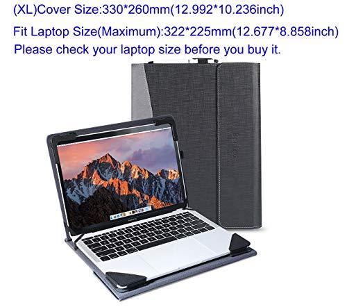 Berfea Funda de Negocio para Lenovo IdeaPad 720S-14 / IdeaPad 710-14 / Yoga 5 Pro 910 / Yoga 6 Pro 920 / Yoga 7 Pro C930 (Negro)