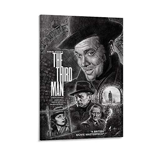 ASDFWQW Póster de The Third Man Movie sobre lienzo, impresión artística para pared, decoración moderna para habitación familiar, 30 x 45 cm