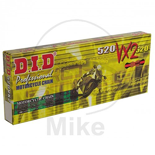 DID Kette 520 VX2, 118 Glieder (X-Ring gold), offen mit Nietschloss