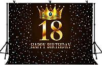 NEW7x5ftハッピー18歳の誕生日の写真の背景の女の子の大人の誕生日パーティーの背景パーティーの装飾バナーの写真スタジオの小道具59