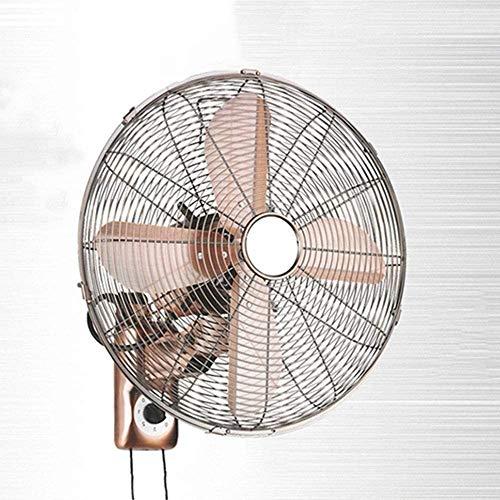 Ventilador de pared oscilante de montaje en la pared, ventiladores de pared, ventilador de pared de metal antiguo retro, con control remoto, inclinación ajustable, operación silenciosa, ventilador elé