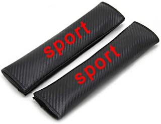 For Peugeot 206 207 208 Seat Belt Cover Seatbelt Shoulder Pads Safety Strap Soft Cushion Protect Neck and Shoulder 2pcs Red