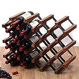 FENGFAN Casiers à vins Présentoir de rangement en bois naturel de 36 bouteilles pour bar Cave à vin (taille : 21 bottles)