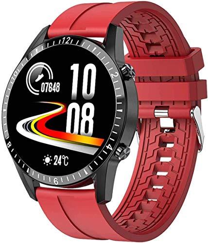 Reloj inteligente pantalla de color frecuencia cardíaca presión arterial SPO2 pulsera inteligente androide PPG ECG Fitness Tracker Watch-Blanco