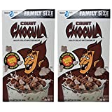 Count Chocula Family Size Halloween Breakfast Cereal - Pack of 2 Boxes - 18.8 oz Per Box - 37.6 oz Total - Limited Edition Halloween Cereal