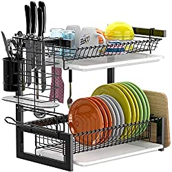GSlife 2 Tier Stainless Steel Dish Rack