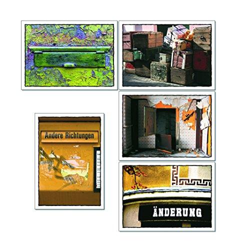tom bäcker Postkarten Set/Konvolut - 5x2 Karten schöne Sprache - Worte - Sprüche - Umzug - umziehen - Veränderung - Einweihung - Geschenk - Reise (10 Karten)