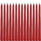 YIHANG 14 Velas Rojo DE 10 Pulgadas Terra Naranja sin Goteo, sin Perfume, Vela de Cena – Cera de parafina con mechas de Algodón – 8 Horas de Tiempo de Combustión
