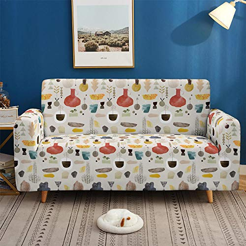 HXTSWGS Stretch Sofa Überwurf Sofabezug,3D Sofa Covers, Non-Slip Elastic Stretch Sofa Cover for Living Room Couch Cover L Shape-SF 021_4-Seater 235-300cm