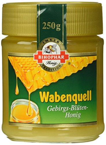 Bihophar Wabenquell Gebirgsblütenhonig, 5er Pack (5 x 250 g)