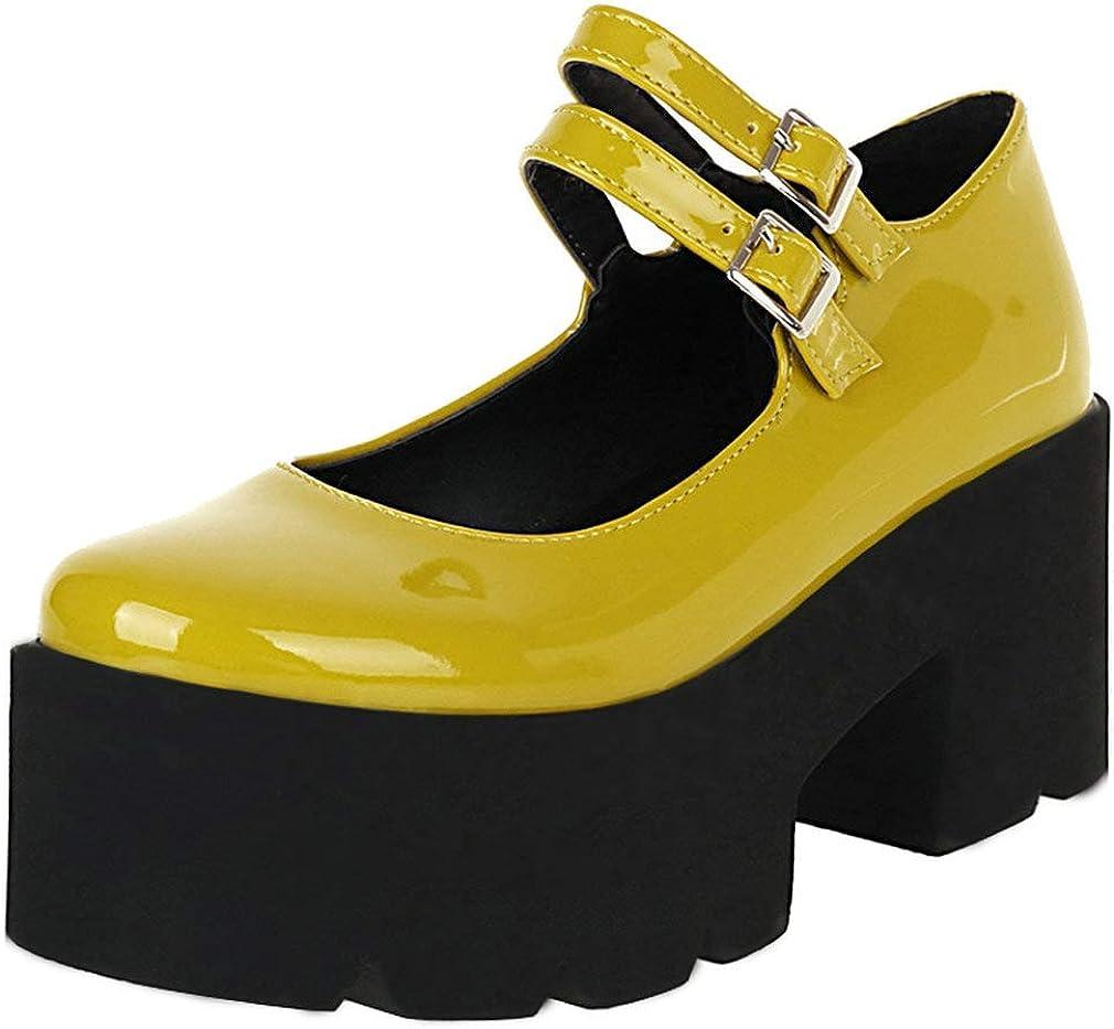 KOKOMOMO Los Angeles Mall Womens Free shipping Gothic Lolita Cosplay Leather Chunk Patent Shoes
