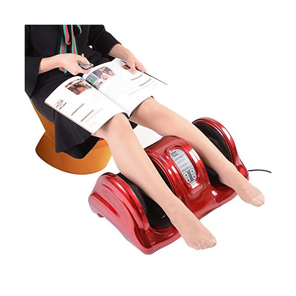 AW Shiatsu Foot Massager Kneading and Rolling Stimulates Blood Circulation with Remote Control Personal Home Health Care…