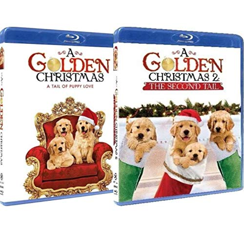 A Golden Christmas Blu-ray Double Feature: A Golden Christmas: A Tail of Puppy Love / A Golden Christmas 2: The Second Tail [Dog-Lovers Holiday 2-Pack]