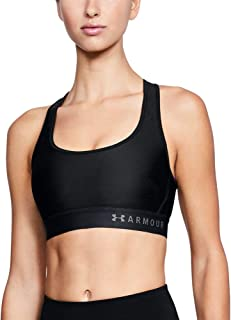 Under Armour Women's HeatGear Mid Impact Crossback Sports Bra