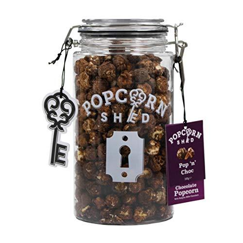 Popcorn Shed Feinschmeckerisches Popcorn Geschenkglas 1.5L   Wählen Sie Ihren Geschmack (Pop N Choc / Schokoladen-Popcorn)