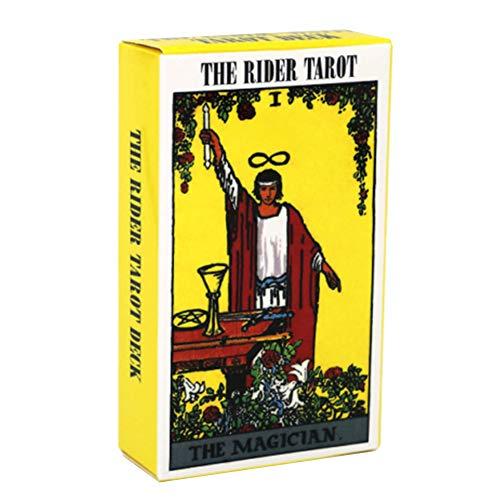 Tarot Rider Waite Tarot Deck, Tarot Deck 78 Carte Carte di tarocchi e Set di Libri, Giochi da Tavolo per Feste con opuscolo Versione Inglese