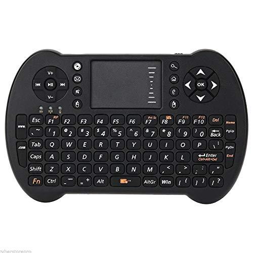 Relais 2.4G Anglais sans Fil Mini Clavier Tactile Tactile airmouse, pour LA TÉLÉ Boîte PC Smart TV commutateur de Relais WiFi (Color : Black)