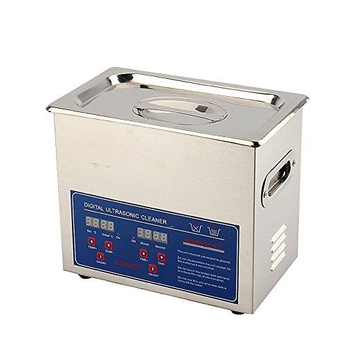 Limpiador por ultrasonidos Yosoo 2L/3L/6L/10L/15 L. Dispositivo digital de limpieza por ultrasonidos, baño ultrasónico de joyas, gafas, dentaduras, hogar 3 L