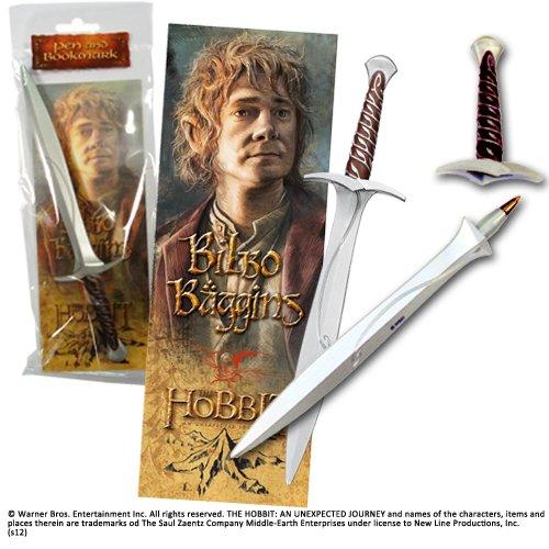 Noble Collection-Il Signore degli Anelli: Penna e Segnalibro Pungolo Spada Giocattolo, Multicolore, NN1217
