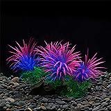 jieqing Plantas Acuario Naturales Plantas Acuario Acuario Adornos Grande Decoración de acuarios Plantas Plantas Artificiales para peceras Purple,15cm