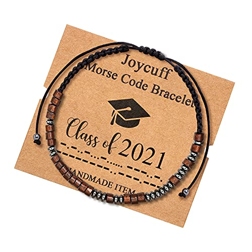 Class of 2021 Morse Code Bracelets for Women Girls Classmates Brother Sister Graduation Jewelry Gifts Jewelry for Her