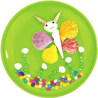 Dorakitten Plate Craft Kit Shell Sticky Handmade DIY Craft Kit Table Decoration Art Project Gift Activity Birthday
