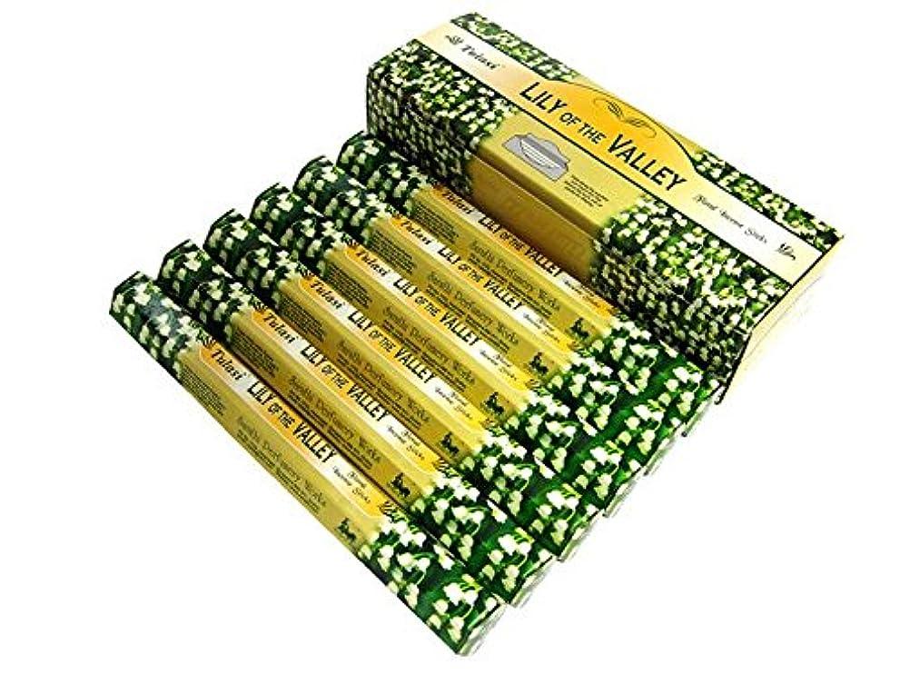 サークル同等の細菌TULASI(トゥラシ) リリーオブザバレー香 スティック LILI OF THE VALLEY 6箱セット