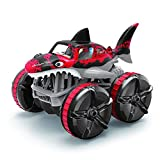 HUImiai 2.4G Toy Grade 1:14 Scale Remote Control Car,Amphibious Land Driving Shark Car,high Speed All Terrains Electric Toy Off Road RC Monster Vehicle Truck Crawler for Boys Kids