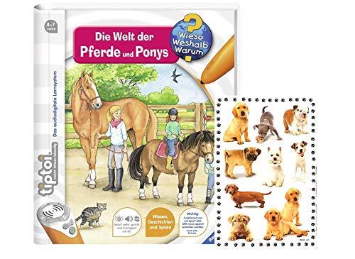 tiptoi Ravensburger Buch - Wieso? Weshalb? Warum? 13 Die Welt der Pferde und Ponys + Hunde und Katzen-Sticker