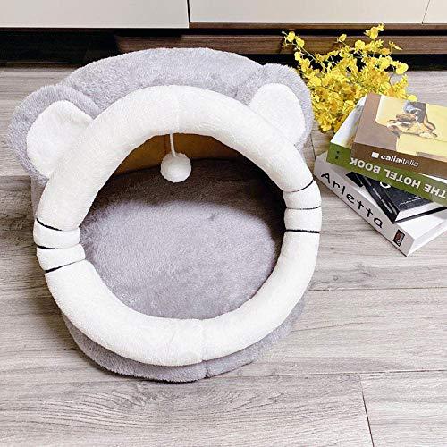 Cama Perro Gato Pequeño Cama Mascota Felpa Sofa Suave Cachorro Animales Domésticos Invierno, Cómoda y Lavable -Lindo Raton_M-45 * 42 * 34