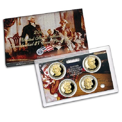 2007 S Presidential $1 Coin Proof Set in OGP Box with COA Proof