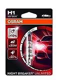 Osram NIGHT BREAKER UNLIMITED H1, Halogen-Scheinwerferlampe, 64150NBU-01B, 12V PKW, Einzelblister (1...