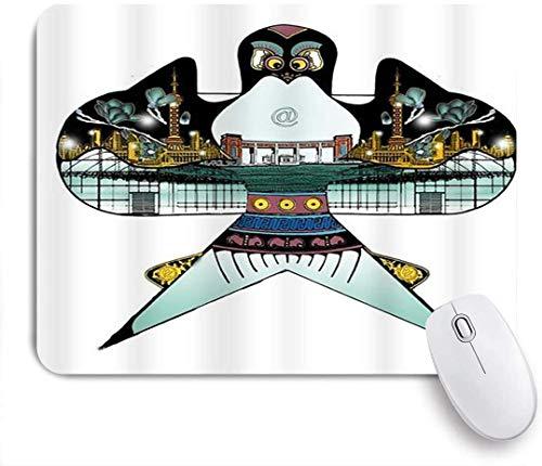 Gaming Mouse Pad Rutschfeste Gummibasis, Der Kite enthält Scenery 3D Print Mom Geschenkideen für Computer Laptop Office Desk