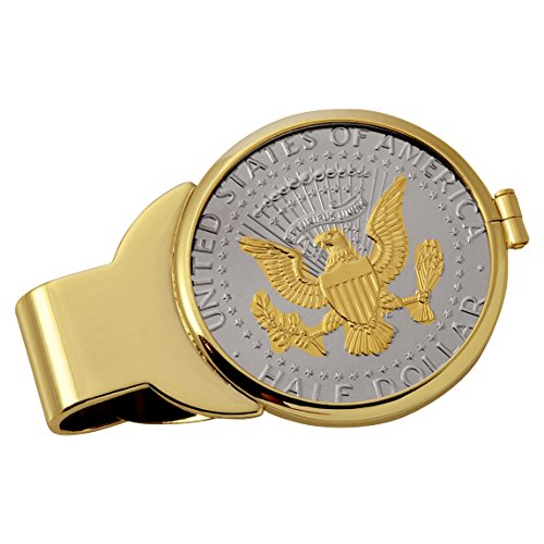 Coin Money Clip - Presidential Seal JFK Half...