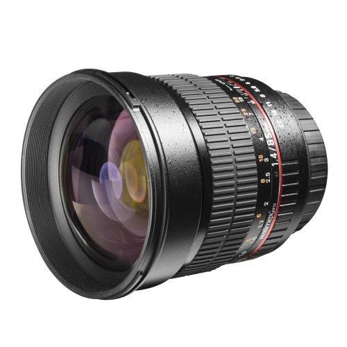 Walimex Pro 20124 - Objetivo para Micro Cuatro Tercios 85 mm (apertura f/1.4-22) negro
