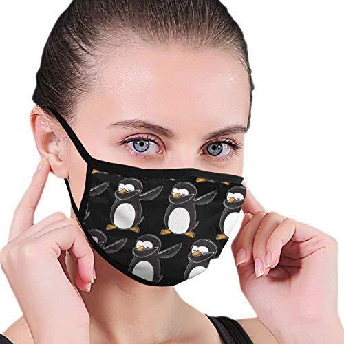 Atmungsaktive, staubdichte, Winddichte, lustige Tupfer-Pinguin-Gesichtsmasken Bequemer Schutz Wiederverwendbare Mundmasken