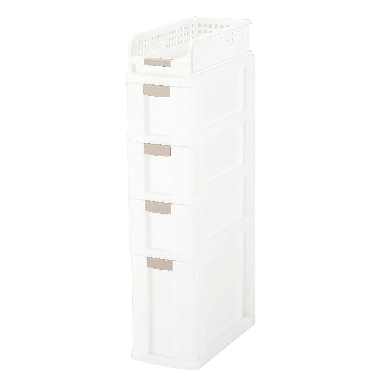 広大なのために歴史家グリーンパル 収納ケース ホワイト 5段 すきま収納ボックス5段 3810011