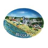 Imán para nevera con resina de Bulgaria 3D, ideal como regalo de turista, hecho a mano, creativo para el hogar y la cocina, magnético